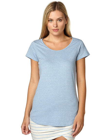 BLUE MARLE WOMENS CLOTHING AS COLOUR TEES - ASC4008BLU