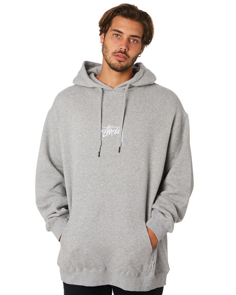 TRUE GREY MARLE MENS CLOTHING STUSSY JUMPERS - ST095202TRGM