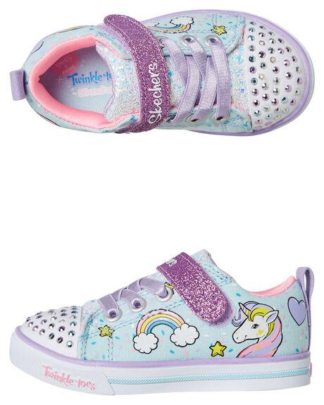 LIGHT BLUE MULTI KIDS TODDLER GIRLS SKECHERS FOOTWEAR - 10988NNPMT