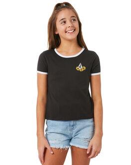 BLACK KIDS GIRLS VOLCOM TEES - B35318Y1BLK