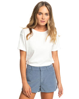 MARSHMALLOW WOMENS CLOTHING ROXY TEES - ERJZT04710-WBT0