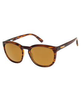 SHINY HAVANA BROWN WOMENS ACCESSORIES ROXY SUNGLASSES - ERJEY03073XCCR