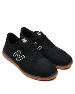 BLACK GUM MENS FOOTWEAR NEW BALANCE SNEAKERS - NM420GUMBLKG