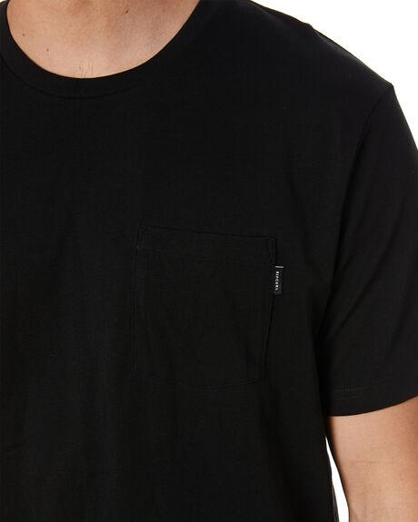 BLACK MENS CLOTHING RIP CURL TEES - CTEMC90090