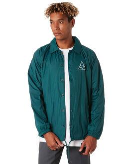 BOTANICAL GREEN MENS CLOTHING HUF JACKETS - JK00116-BTCGN