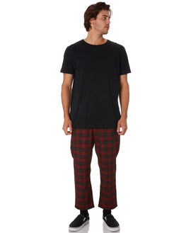 RED MENS CLOTHING STUSSY PANTS - ST096602RED