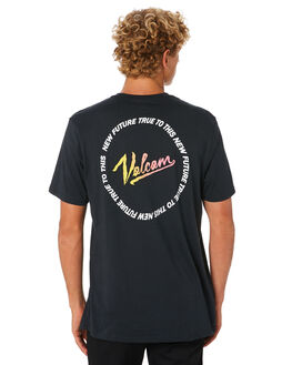 BLACK MENS CLOTHING VOLCOM TEES - A50418GOBLK