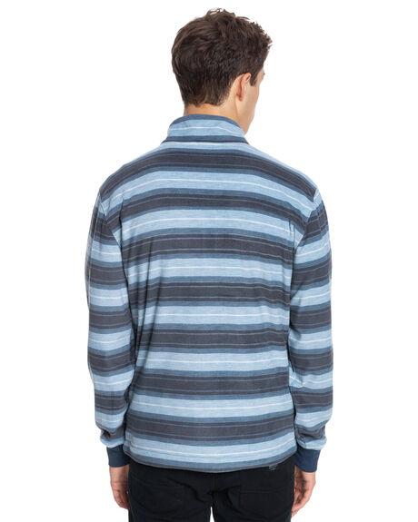 SARAGOSA SEA STRIPE MENS CLOTHING QUIKSILVER HOODIES + SWEATS - EQYFT04307-BSG3