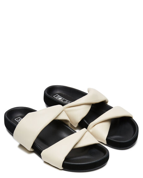 OFF WHITE WOMENS FOOTWEAR SOL SANA SLIDES - SS212W504OWHI