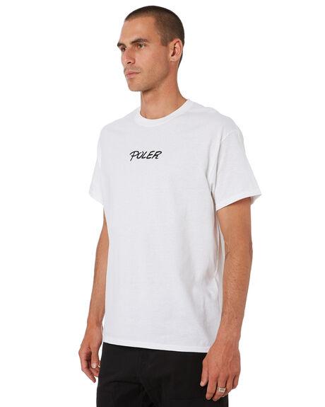WHITE MENS CLOTHING POLER TEES - 202APM2008-WHT