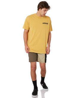 OCHRE YELLOW MENS CLOTHING STUSSY TEES - ST092000OCYE