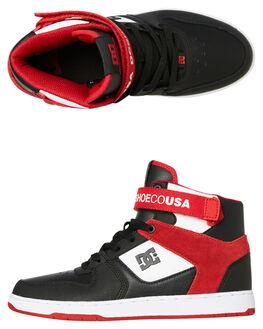 BLACK RED MENS FOOTWEAR DC SHOES SNEAKERS - ADYS400038XKWR