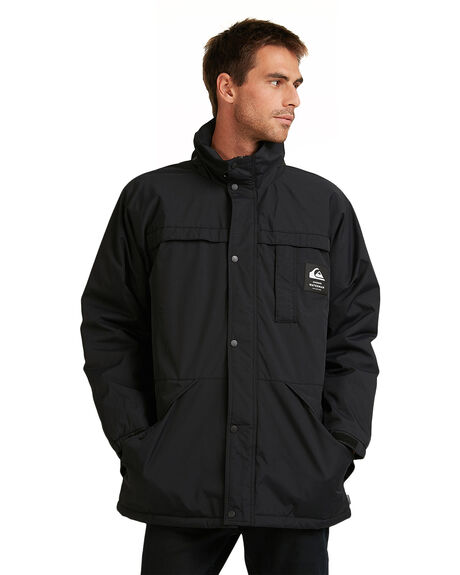 BLACK MENS CLOTHING QUIKSILVER JACKETS - EQMJK03028-KVJ0