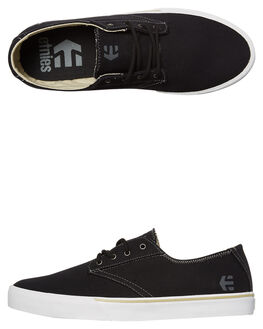 BLACK WHITE GRY MENS FOOTWEAR ETNIES SKATE SHOES - 4101000477-980