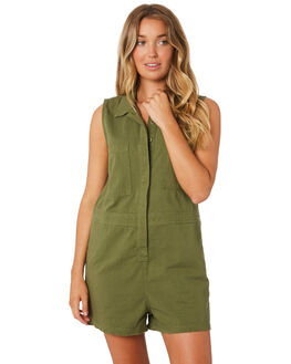 ARMY GREEN WOMENS CLOTHING THRILLS PLAYSUITS + OVERALLS - WTA9-911FARMY