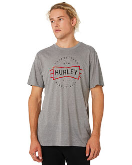DK GREY HEATHER MENS CLOTHING HURLEY TEES - BV1899063
