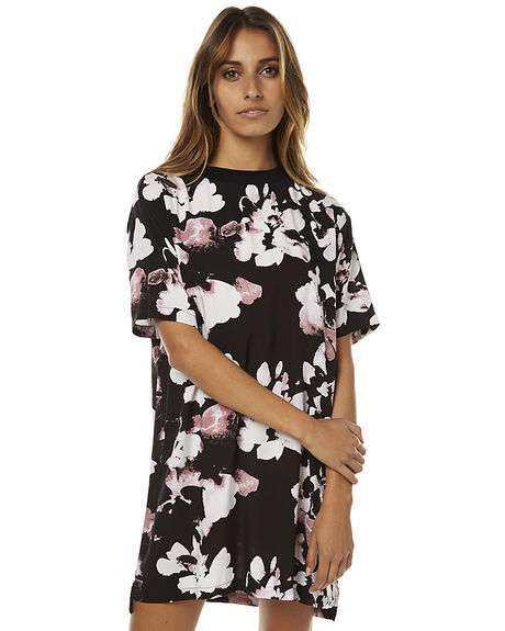 BLACK WOMENS CLOTHING RVCA DRESSES - R261751ABLK
