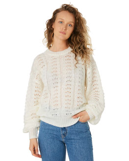 WHITE WOMENS CLOTHING THE HIDDEN WAY KNITS + CARDIGANS - H8194146WHI