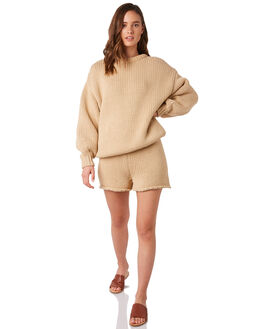 CAMEL WOMENS CLOTHING ZULU AND ZEPHYR KNITS + CARDIGANS - ZZ2851CCAMEL