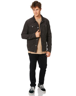 WASHED BLACK MENS CLOTHING RIP CURL JACKETS - CJKEI18264