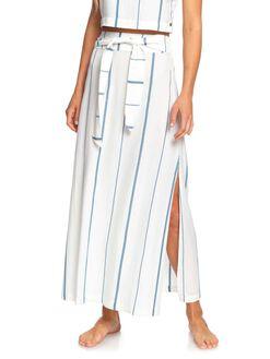 SNOW WHITE STRIPE WOMENS CLOTHING ROXY SKIRTS - ERJWK03070-WBK4