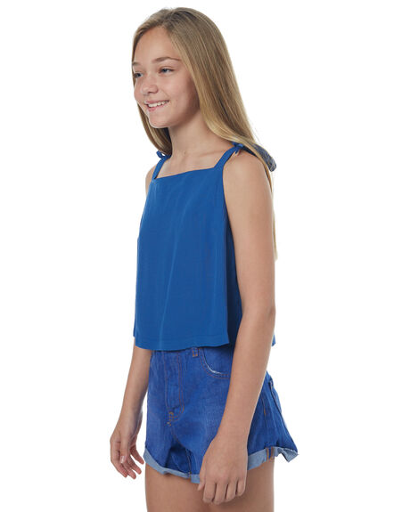 NAVY KIDS GIRLS SWELL SINGLETS - S6171100NAVY