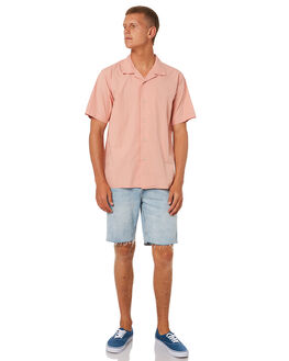 SALMON MENS CLOTHING KATIN SHIRTS - WVALO01SALMN