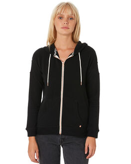 BLACK WOMENS CLOTHING VOLCOM JUMPERS - B3111802BLK