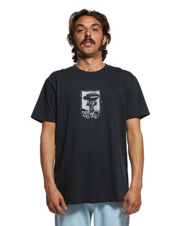 BLACK MENS CLOTHING QUIKSILVER TEES - EQYZT05467-KVJ0