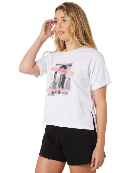 WHITE OUTLET WOMENS ALL ABOUT EVE TEES - 6426131WHI