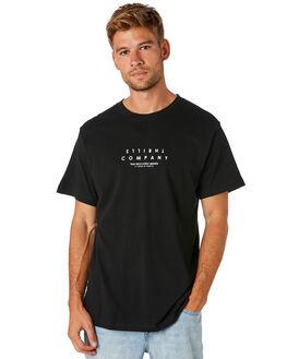 BLACK MENS CLOTHING THRILLS TEES - TS8-112BBLK