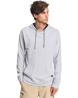 GREY MARL MENS CLOTHING QUIKSILVER TEES - EQMKT03080-SLRH