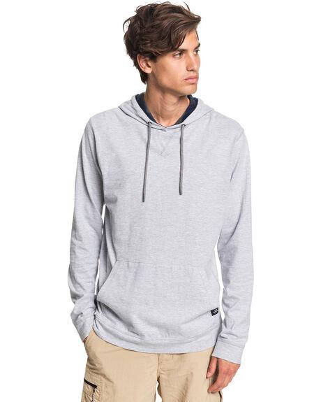 GREY MARL MENS CLOTHING QUIKSILVER TEES - EQMKT03080-SLRH