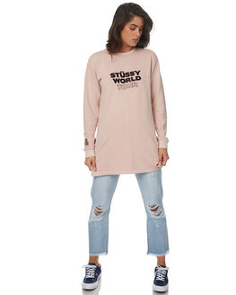 DUSTY PINK WOMENS CLOTHING STUSSY DRESSES - ST171502DPK