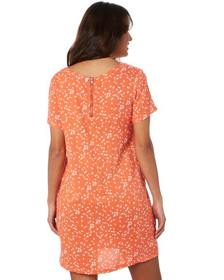 ORANGE SPLATTER WOMENS CLOTHING ALL ABOUT EVE DRESSES - 6463227PRNT