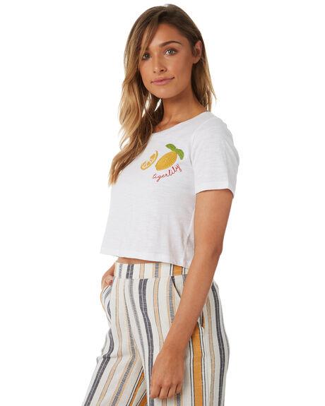 WHITE WOMENS CLOTHING TIGERLILY TEES - T382000WHT