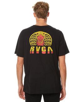 BLACK MENS CLOTHING RVCA TEES - R171044BLK