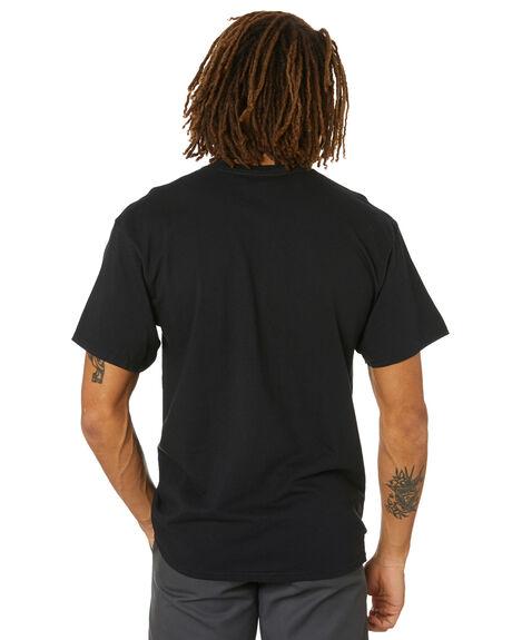 BLACK MENS CLOTHING HUF TEES - TS01348-BLACK