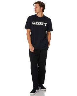 DARK NAVY WHITE MENS CLOTHING CARHARTT TEES - I0247721C
