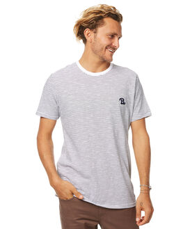 WHITE STRIPE MENS CLOTHING BARNEY COOLS TEES - 103-MC2WSTP