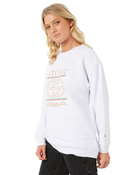 WHITE WOMENS CLOTHING STUSSY JUMPERS - ST185326WHT