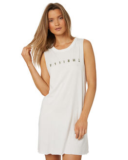 DIRTY WHITE WOMENS CLOTHING THRILLS DRESSES - WTS8-901AWHT
