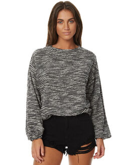 BLACK WOMENS CLOTHING RUSTY JUMPERS - MWL0211BLK