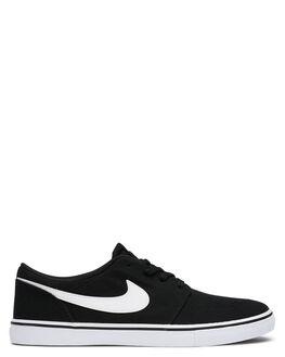 BLACK WHITE WOMENS FOOTWEAR NIKE SNEAKERS - SS880268-010W