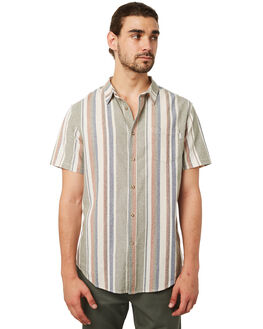 OLIVE MENS CLOTHING RHYTHM SHIRTS - JUL18M-WT09-OLIVE