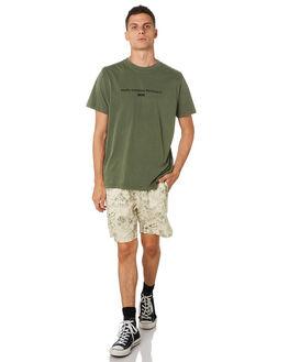 ARMY GREEN MENS CLOTHING THRILLS TEES - TH9-108FARMGR