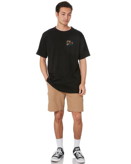 BLACK MENS CLOTHING RPM TEES - 20PM03ABLK