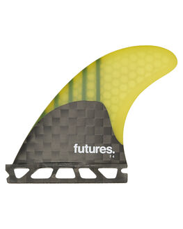 YELLOW SURF HARDWARE FUTURE FINS FINS - F45-021408YEL