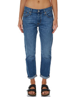 TURN OUT BLUE WOMENS CLOTHING LEVI'S JEANS - 17804-0092TOB