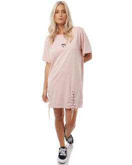 DUSTY PINK WOMENS CLOTHING STUSSY DRESSES - ST185501DPINK